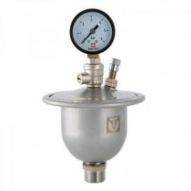 Гаситель гідроударів мембранний з манометром VALTEC 0,155 Л