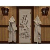 Скляні двері для сауни і лазні Pal з кольоровим фотодруком 70x190 см