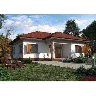 Стильний каркасний будинок 98 м2 базова комплектація