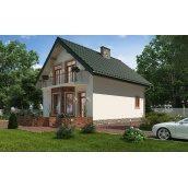Стильний каркасний будинок 107 м2 комплектація під ключ