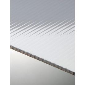 Полікарбонат стільниковий Polygal 8 мм опал рекл білий 2100x6000 СТАНДАРТ