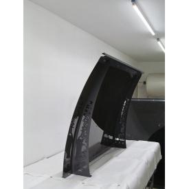 Металлический сборный козырек Dash'Ok Фауна 2,05 м 1м с сотовым поликарбонатом 6мм