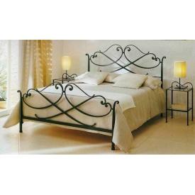 Металлическая кровать 1900x1200 с декоративным рисунком