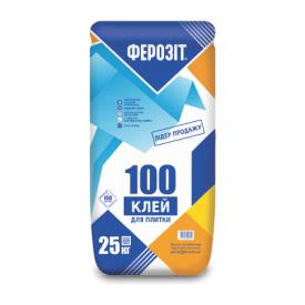 Клеевая смесь Ферозит 100 для плитки 25 кг