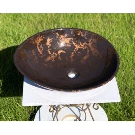 Умывальник из литого камня мрамора SNАIL Лотус 508х405 мм
