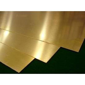 Лист латунный ЛС 59-1 Л 63 0,6x600x1500 мм