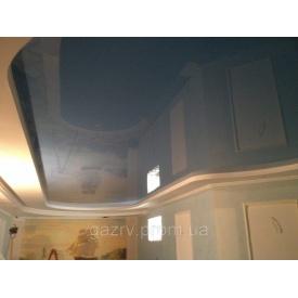 Натяжный потолок эконом класса синий