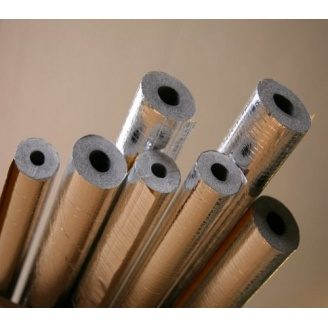 Утеплювач для труб Tubex в алюмінієвій фользі 101(20) мм