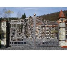 Ковані ворота розпашні відкриті 4х2