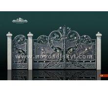 Ковані ворота розпашні закриті 2х4 А1110113