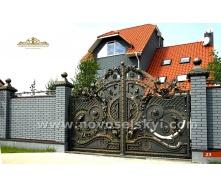 Ковані ворота розпашні закриті