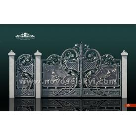 Кованые ворота распашные закрытые 2х4 А1110113