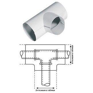 Трійник K-flex 100х061 PVC для зовнішнього покриття трубної ізоляції
