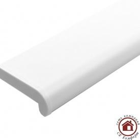 Пластиковые подоконники Plastolit 600 мм Белый матовый
