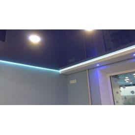 Натяжна стеля синя глянцева 0,18 мм