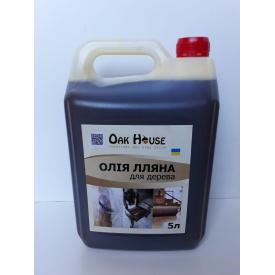 Льняное масло для деревяных изделий 10 л Oak House