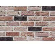 Фасадная плитка Loft Brick Бостон 20 Темно-красный с подпалом 210x65 мм