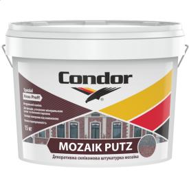 Декоративная силиконовая штукатурка мозаика 1,0 мм 1,5 мм Condor Mozaik Putz 15кг