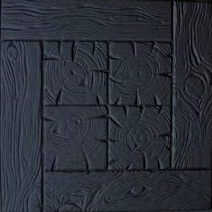 Блок дорожный Zabor-Perfecto Паркет доски 500х500х50 мм черный
