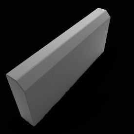 Поребрик малый сухопрессованый Zabor-Perfecto 500х200х60 мм серый