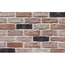 Фасадна плитка Loft Brick Бостон 20 Темно-червоний з підпалом 210x65 мм