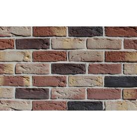 Фасадна плитка Loft Brick Бостон 10 Темно-червоний з бежево-жовтими нотами 210x65 мм