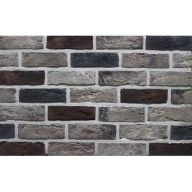 Фасадная плитка Loft Brick Челси Красно-коричневый с подпалами 210x65 мм