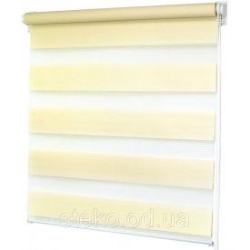 Тканевые роллеты день-ночь зебра желтый 500