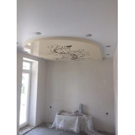 Натяжной потолок с рисунком под заказ