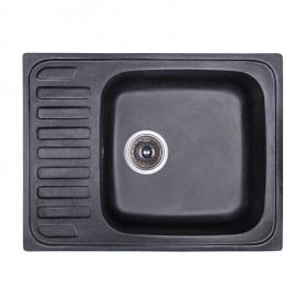 Мойка гранитная Fosto 64x49 SGA-420 черный