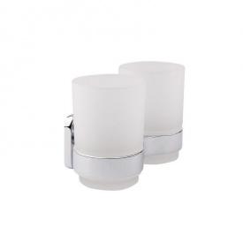 Стакан для зубных щеток настенный двойной GF (CRM)/S- 2708
