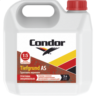 Зміцнююча грунтовка глибокого проникнення для внутрішніх і зовнішніх робіт Condor Tiefgrund AS 10л