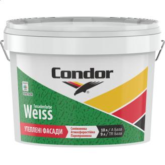 Атмосферостойкая модифицированная силиконом краска для фасадов Condor Fassadenfarbe Weiss 10л