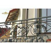Коване огородження балкону пряме А3113
