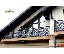 Коване огородження балкону пряме А3110