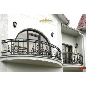 Кованое ограждение балкона полукруглое А3206