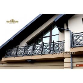 Кованое ограждение балкона прямое А3110