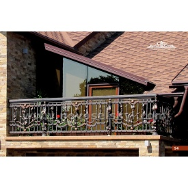 Коване огородження балкону пряме А3114