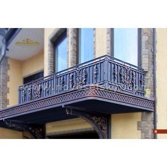 Коване огородження балкону пряме закрите А3108