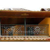 Коване огородження балкону пряме А3116