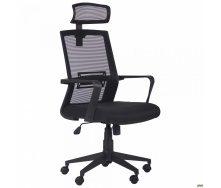 Офісне крісло AMF Neon HR Саванна Black 19/Сітка чорна 12-128х58х65 см