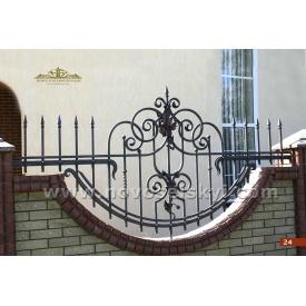 Кованая ограда открытая полукруглая А2224