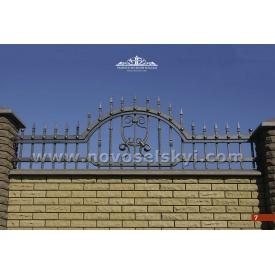 Кованая ограда прямая открытая А2107