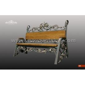 Кованая скамейка со спинкой А7110