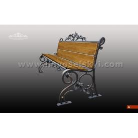 Кованая скамейка со спинкой А7106