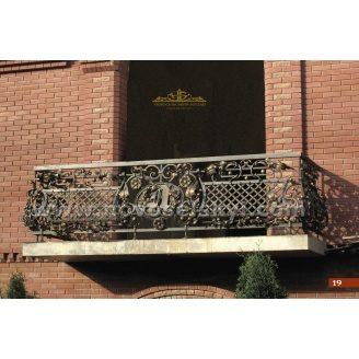 Коване огородження балкону вигнуте А3119
