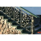 Кованое ограждение лестницы экстерьерное А4117