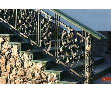 Коване огородження сходів екстер`єрне А4117