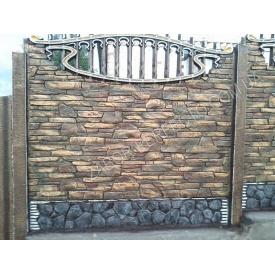 Еврозабор односторонний карпатский камень 2 x 0,5 м