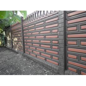 Еврозабор Глянцевый односторонний Шоколадка 2x0,5 м